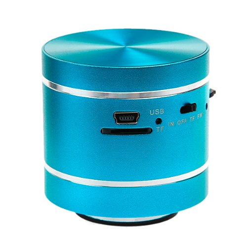 Buy Blue 360 degree Vibration Resonance Mini Music Speaker for MP3 PC Phones iphone iPad iPod with Remote + FREE Excelvan Card Reader