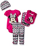 Disney Baby Minnie Mouse 5 Piece Layette Box Set, Fuchsia, 0-6 Months