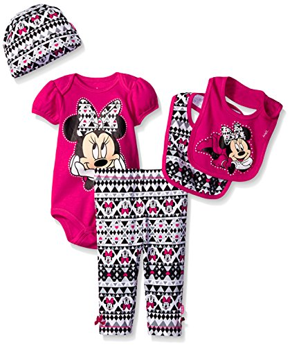 14cdf4648a98 Disney Baby Minnie Mouse 5 Piece Layette Box Set, Fuchsia, 0-6 Months