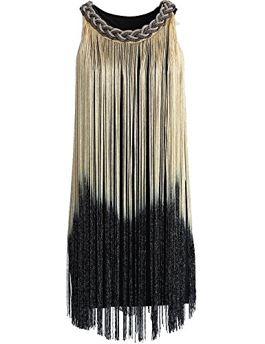 KAYAMIYA-Womens-Chain-Neck-Swing-Ombre-Draping-Tassel-Flapper-Gatsby-Cocktail-Dress