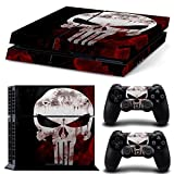 Ps4 Playstation 4 Console Skin Decal Sticker Skull The Punisher + 2 Controller Skins Set