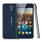 "Landvo V8 - Smartphone Libre 3G Android 4.4 (5,0"" IPS QHD, Dual Cores, 512MB Ram, 4G Rom, Dual Sim, Multi-Idioma, Wifi, GPS, Cámara 2Mp), Azul"