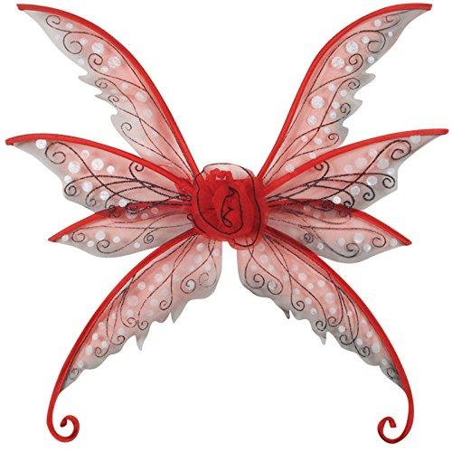 Loftus International Magical & Mysterious Fairy Wings, Red, Small/Medium/24