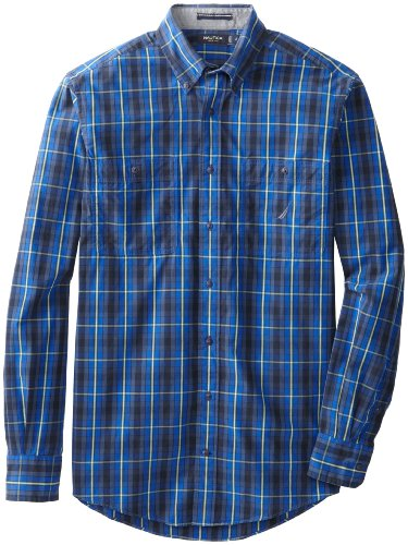 Images for Nautica Men's Big-Tall Long Sleeve Poplin Plaid Shirt