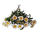 Yunko 2-Pack Fake Floral Daisy Silk Flower Little Sunflowers High Quality Artificial Flower Home Hotel Office Wedding Party Garden Craft Art Decor 14 Inch white