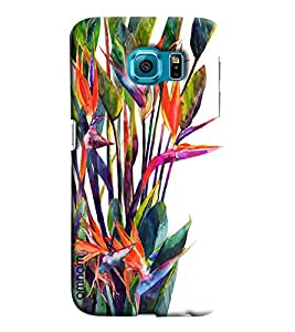 Omnam Plants Effect Printed Designer Back Cover Case For Samsung Galaxy S6 Edge