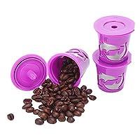 Gutens Reusable Coffee Filter Coffee Cup for Keurig 2.0 - K300, K400, K500 Series and All Keurig 1.0 Series - 3 pcs