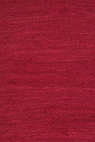 Prairie Rugs Cotton Area Rugs Red 6 x 9 Foot