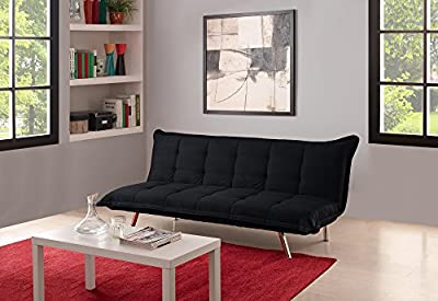 DHP Edge Microfiber Futon, Twin, Black