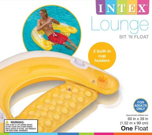 Intex Sit 39 N Float Classic Inflatable Raft Swimming Pool Lounge Set Of 4 Home Garden Spa Spa