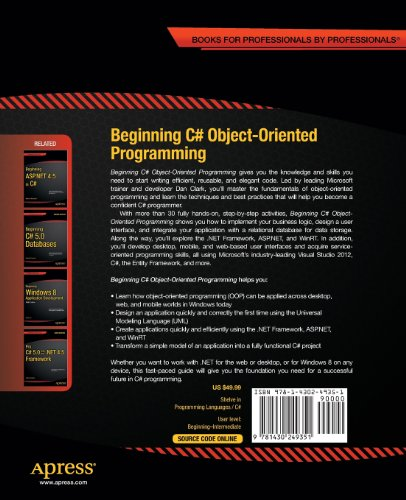 Beginning C# Object-Oriented Programming (Beginning Apress)