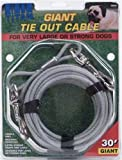 Titan Giant Cable 30-Feet Long  Dog Tie Out, Silver