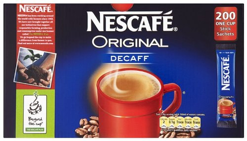 Nescafè Original Decaffeinated Coffee Sticks (200 Pack)