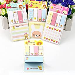 ADB Inc Cute Sticky Notes Pads Post It Notes Memo Flags Removable Adhesive Paper
