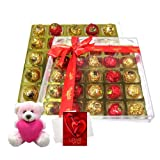 Chocholik Luxury Chocolates - Ultimate Creation Of Chocolates For Love One With Teddy And Love Card