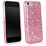 BoxWave Glamour & Glitz Apple iPhone 5c Case Slim-Fit back Cover case with Glitter Sparkle Bling Design - Apple iPhone 5c Cases (Princess Pink)