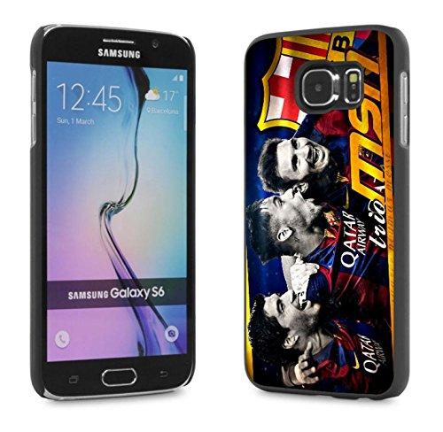 MSN Messi - Suarez - Neymar The Barcelona Trio Case Cover Your Samsung S6 Case ( Black Hard Plastic ) (Edge Of Heat 6 compare prices)