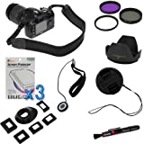 BIRUGEAR 10 Items Value Accessories Bundle kit for Nikon D5200, D5000, D3000, D3100, D5100 D800 D800E(with 18-55mm, 55-200mm, 50mm f/1.8D NIKKOR Lenses), Canon EOS 60D, 7D, 650D, 600d, 550D (with EF 50mm f/1.8 II Lens)