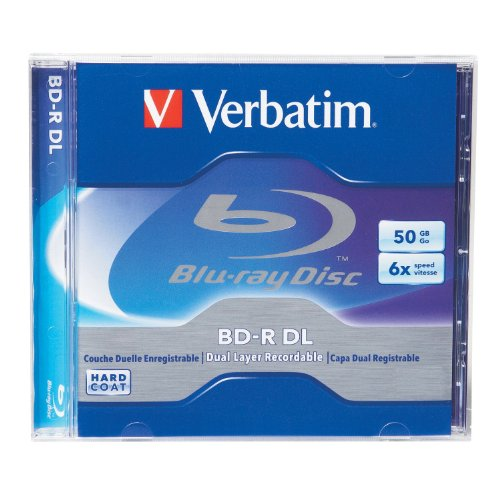 Verbatim 96911 50 GB 6x Blu-ray Double-Layer Recordable Disc BD-R DL, 1-Disc Jewel Case (Discontinued by Manufacturer)
