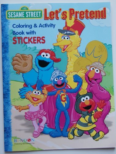 Sesame Street 'Let's Pretend' Coloring & Activity Book with Stickers - 1
