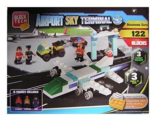 Block Tech Airport Sky Terminal - Boarding Gate - 122 Pieces