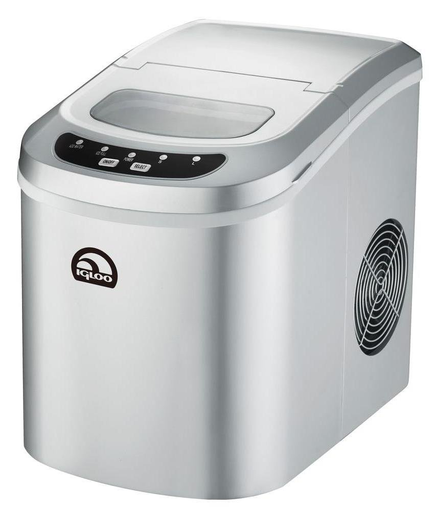 Igloo Countertop Compact 26 lb. Portable Freestanding Ice Maker, Silver (Certified Refurbished)