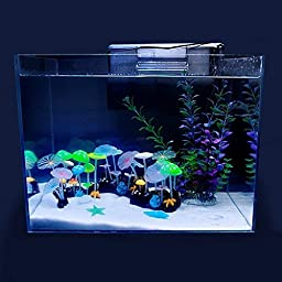 Agooding Aquarium Fish Tank Decorating Ornament Artificial Plant