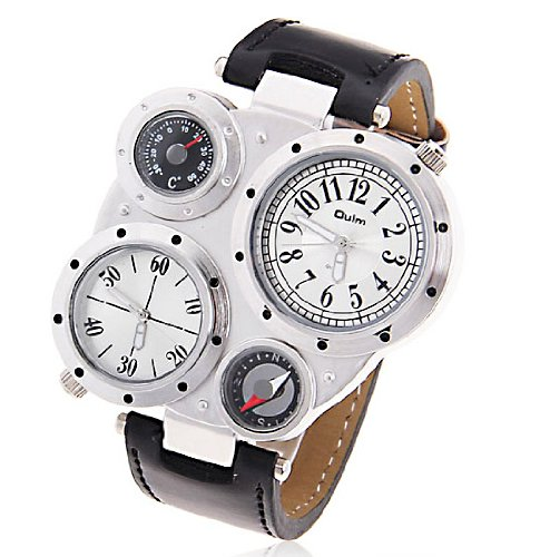 R-style epidemic inevitable antique mechanical design watch compass thermometer with function models with Microfiber cloth (white)