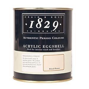 1829 ACRYLIC EGGSHELL PAINT 750ml Dried Plaster Amazon
