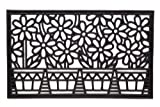 Lawn & Patio - Flower Pots Cast Iron Vulcanized Rubber Rectangle Outdoor Mat 18x30 by Iron Gate - Classic styling and Ultra-Strong construction - Heavy duty rubber with the look of iron - Welcome your guests with this high quality doormat