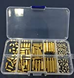 120pc M3 Brass Spacer Standoff Screw Nut Assortment Kit