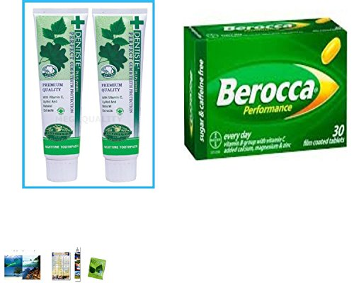 Special Set :2X100 G. Dentiste Plus White Vitamin C & Xyitol Gum Toothpaste Made In Thailand Plus Berocca Performance 30 Tablets. [Get Free Herbal Lozenges]