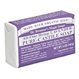 Dr. Bronners Magic Soaps Pure-Castile Soap, All-One Hemp Lavender, 5-Ounce Bars (Pack of 6)