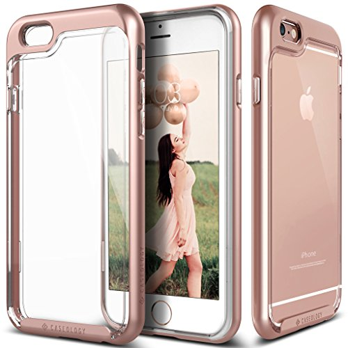 iPhone 6S Case, Caseology® [Skyfall Series] Scratch-Resistant Clear Back Cover [Rose Gold] [Shock Absorbent] for Apple iPhone 6S (2015) & iPhone 6 (2014) - Rose Gold