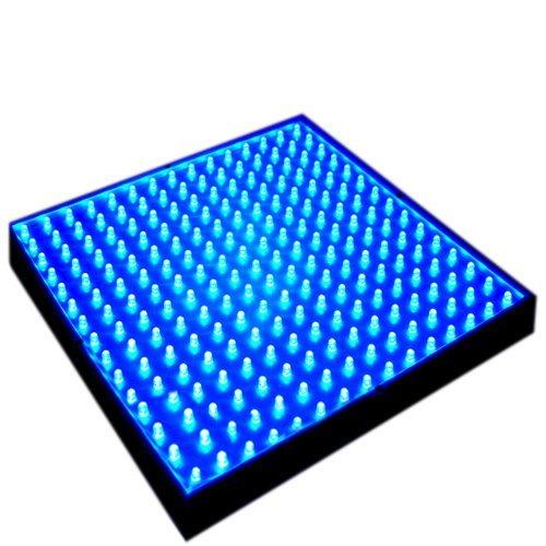 Hqrp 14W 225 Blue Led Light Panel For Growing Indoor Fruit Plants / Flowers + Hanging Kit + Uv Meter