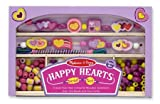 Melissa And Doug Wooden Bead Set Happy Hearts