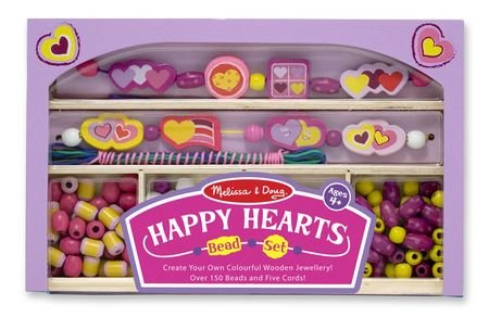 517dpM4%2BYRL Cheap Price Melissa & Doug Happy Hearts Wooden Bead Set