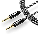 #9: 6ft long Nylon Braided Original Mivi Tough Aux Audio Cable with 3.5mm Male to Male Gold plated connectors for Headphones, Mobile phones, Home, Car stereos and more (Black)