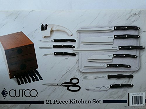 CUTCO-18-Piece-Knife-Set-Homemaker-8-Table-Knives-with-Cherry-Oak-Block-Cutting-Board-and-Sharpener