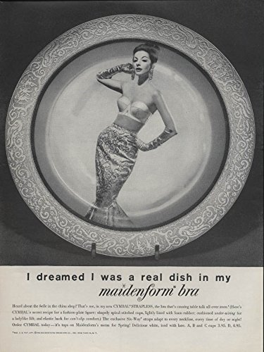 I Dreamed I Was A Real Dish In My Maidenform Bra Ad 1960 L