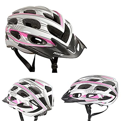 AWE® AeroStyleTM 24 Vents Double In-Mould Bicycle Bike Helmet Adult Ladies Womens CE EN1078 TUV Approvals 56-58cm from AWE®