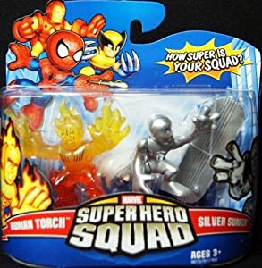 Super Hero Squad Marvel Superhero Squad Series 13 Mini 3 Inch Figure 2-Pack Human Torch and Silver Surfer at Sears.com