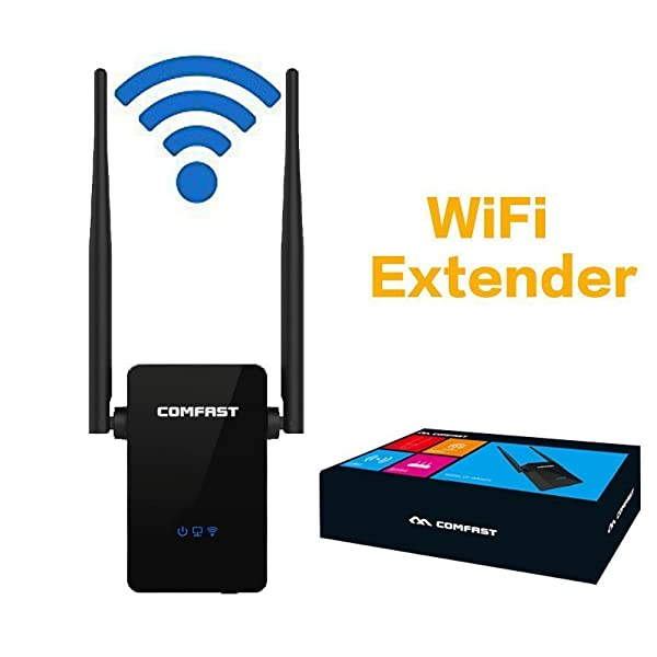 HONGYU 300Mbps WiFi Repeater, Wireless Range Extender,WiFi Booster, Signal Amplifier with Dual External Antennas and 360 Degree WiFi Full Coverage Bac