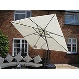 King Luxury Grey Canopy Garden Furniture 3.5 Metre Parasol