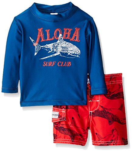 Osh Kosh Baby Aloha Long Sleeve Rash Guard Set, Navy, 18 Months