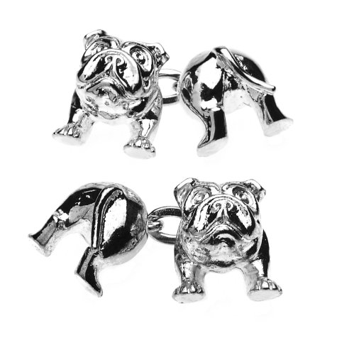 Christopher Simpson Silver Plated Bulldog Cufflinks
