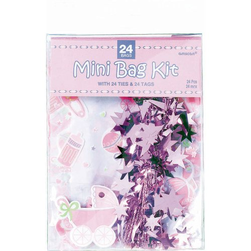 Pink Mini Favor Bag Kit 24ct