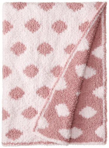 Colorado Clothing Kid's Chunky Chenille Polka Dot Blanket, Cotton Candy, One Size