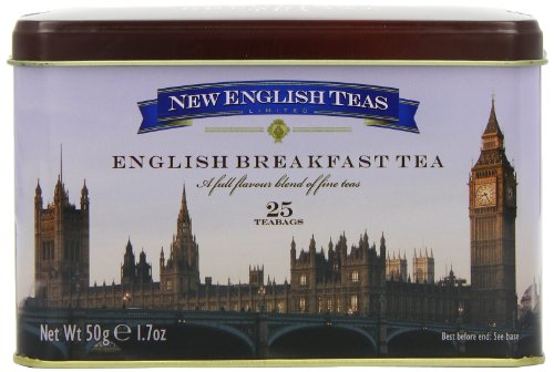New English Teas Westminster English Breakfast Traditional Teabags Tin (Pack ...