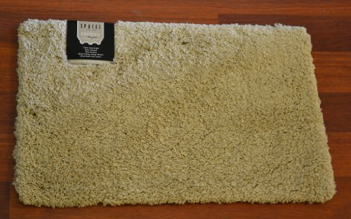 Spaces Spaces Exotica Polyester Large Bath Rug  Papyrus Green